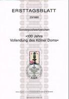 1980 - Germany ETB 23/1980 - Architecture - Churches & Cathedrals - 100. Jahrestag Der Vollendung Des Kölner Doms [D08_2 - FDC: Bögen