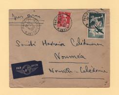 Destination Nouvelle Caledonie - Par Avion - Paris - 1948 - 1921-1960: Periodo Moderno