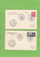 JOURNEE DES NATIONS UNIES 1953,1954 ET 1957. 3 PLIS. - Herdenkingskaarten