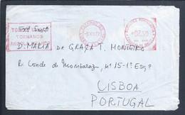 Carta Circulada Flâmula Patriótica 'Todos Unidos Tornamos Angola Melhor' Obliteração Estação Central De Luanda. Ref. G - Angola