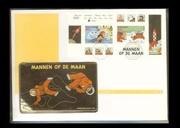 1999 - Netherlands TELE-letter No. 33 - Comic Characters - Kuifje En Bobbie, Haddock, TinTin (block) [PB11_79] - Storia Postale