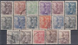 ESPAÑA 1940-1945 Nº 919/935 USADO (REF. 01) - 1931-50 Usati