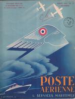 Document Postal - Poste Aérienne & Services Maritimes 1956 Illustration E. Borloz - Postadministraties