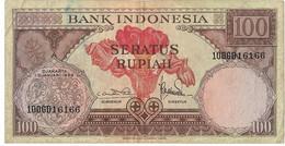 INDONESIE République 100 RUPIAH #69  1959 Grande Fleur TB - Indonésie