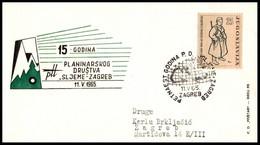 "Yugoslavia 1965, Illustrated Cover ""Mountaineering Club Sljeme"" W./ Postmark ""Zagreb"" - Covers & Documents"