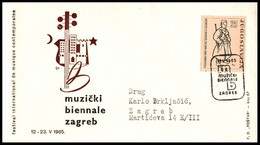"Yugoslavia 1965, Illustrated Cover ""Music Biennale Zagreb"" W./ Postmark ""Zagreb"" - Covers & Documents"