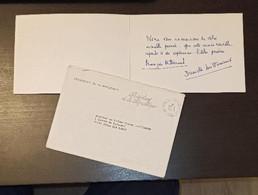 AUTOGRAPHES De Danielle Et Francois MITTERAND Président De La République Carte De Voeux Envoyée A TOURS SUR MARNE 51 - Autografi