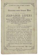 Jean-Louis Lepers, Né à Roubaix En 1834, Décédé à Wasquehal En 1892 époux De Victoire Leuridan. - Imágenes Religiosas