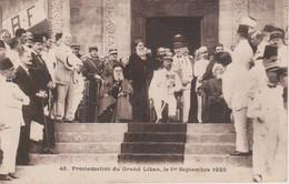 PROCLAMATION DU GRAND LIBAN LE 1.09.1920 - Lebanon