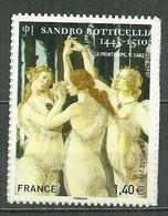 FRANCE MNH ** Adhésif Autocollant  509 (4519) Sandro Boticelle Art Peinture Peintre Les Trois Graces - Adhesive Stamps