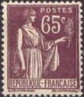 FRANCE 1932-33 Neuf**, Type Paix 65c Violet-brun YT 284 - Ungebraucht