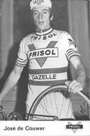 CARTE CYLISME JOSE DE CAUWER TEAM FRISOL 1975 DECOUPE, FORMAT 9,8 X 14,7 ) - Radsport