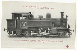 CPA, Th.Transp.,N° 210, Les Locomotives - ( Turquie D'Asie ) , Chemin De Fer De Bagdad  Ed. F. Fleury - Treni