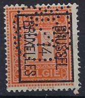PERFIN / PERFO PELLENS Nr. 108 TYPO Voorafgestempeld Nr. 45B , Geperforeerd ; Staat Zie 2 Scans ! ZELDZAAM - Typos 1912-14 (Lion)