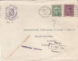 ENVELOPPE  DU SEMINAIRE DE RIMOUSKI QUEBEC -  POUR MANUFRANCE SAINT ETIENNE  - 1949 - Canadá