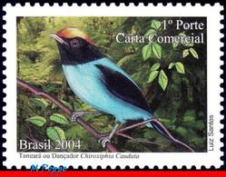 Ref. BR-2941-DP BRAZIL 2004 ANIMALS, FAUNA, DANCER BIRDS,, DEPERSONALIZED, MNH 1V Sc# 2941 - Unused Stamps