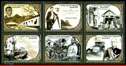 Ref. BR-3302 BRAZIL 2015 FAMOUS PEOPLE, MARSHAL RONDON, ENGINEER,, MILITARY & FRONTIERSMAN, CAR, SET MNH 6V Sc# 3302 - Militaria