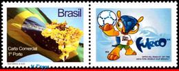 Ref. BR-V2014-40 BRAZIL 2014 FOOTBALL SOCCER, WORLD CUP MASCOT,, PERSONALIZED STAMP MNH 1V - 2014 – Brazilië