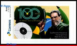 Ref. BR-V2020-50 BRAZIL 2020 - 100 YEARS 1ST GOLD IN, OLYMPICS, GUILHERME, SHOOTING, MNH, OLYMPIC 1V - Personnalisés