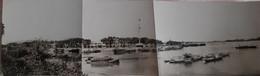 Photographie Panorama Mât Des Signaux Rivière De SAIGON Et Canal De Cholon Indochine Vietnam Cochinchine Photo - Places