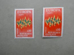 FRANCE  Europa  VARIETE Du N° 1715 De 1972 . Etincelles Jaunes Très Décalées Neuf Sans Charnière - Unused Stamps