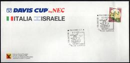 TENNIS - ITALIA PALERMO 6.02.1988 - DAVIS CUP - INCONTRO ITALIA Vs ISRAELE - SECONDA GIORNATA - BUSTA UFFICIALE - Tennis
