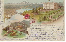 ITALIE - RARE - BRUNATE - Souvenir De Brunate - 1899 - Como