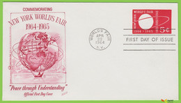Voyo  USA FDC 1964  Sc#U546 New York World's Fair Stamped Cover - 1961-80