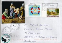 Lettre De Schaan (Liechtenstein) Adressée Andorra Durant épidémie Et Confinement, Avec Vignette De Prévention - Covers & Documents