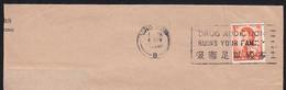 """HONG KONG (1969) Drug Addiction. Cancel On Envelope """"Drug Addiction Ruins Your Famlly."""" - Other"""