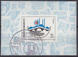 TÜRKEI Block 18, Gestempelt, Nationale Jugend-Briefmarkenausstellung EDIRNE '78, 1978 - Blocchi & Foglietti