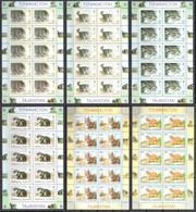 WWF Tajikistan - Pallas's Cat 6 Sheetlets Of 10 Stamps Each 10 Sets 1996 MNH - Sin Clasificación