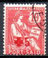 Port Saïd: Yvert N° 35; Croix Rouge - Used Stamps