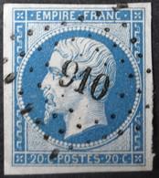 14B Margé, Obl PC 910 Cologne-du-gers (31 Gers ) Ind 9 - 1849-1876: Classic Period