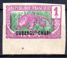 Oubangui: Yvert N° 1a(*); Bord De Feuille - Ongebruikt