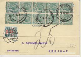 Italia, 1923 Cover Napoli To Switzerland, Taxed, See Scans! - Otros