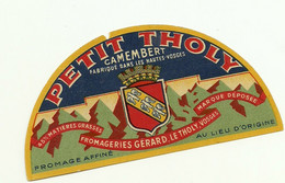 étiquette DEMI CAMEMBERT  PETIT THOLY - Formaggio
