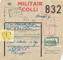 Belgien Bahnpost Spoorwegdoc Militair Colli, Colis Militaire Brügge 1952 - 1952-....