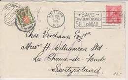 Newzealand, 13. Feb. 1928 Cover From Aukland To Switzerland, Taxed, See Scans! - Cartas