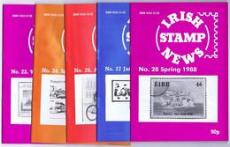 Ireland Irish Stamp News Nos. 23, 24, 26, 27 And 28 1986-88 - Zonder Classificatie