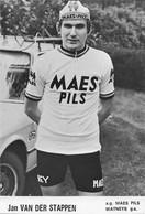 CARTE CYCLISME JAN VAN DER STAPPEN TEAM MAES - PILS 1975 ( DECOUPE, FORMAT 10 X 15 ) - Radsport