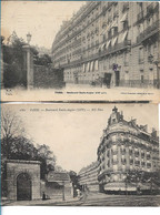 PARIS -  Boulevard Emile Augier - Lot De 2 CPA - Arrondissement: 16