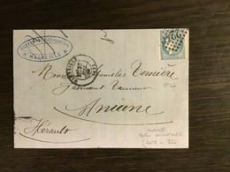ÉMISSION BORDEAUX N°46 Nuance OUTREMER / Lettre (1871). 2è Choix. Cote 850. RARE - 1849-1876: Periodo Classico