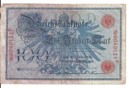 ALLEMAGNE 100 MARK 1908 VF P 33 - 100 Mark