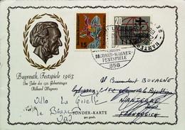 ► Richard Wagner-Festspiele Bayreuth / 1963 / Sonderbeleg /  Pfadfinder-Bewegung > Ohne Zuordnung - Marcofilie - EMA (Printmachine)