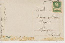Schweiz, 9.2.1922, Postkarte, Pfungen, Aushilfstempel , Siehe Scans! - Cartas