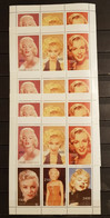 ABHAZIA MARLYN MONROE LOT 5 SHEETS PERFORED MNH - Actores