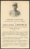 Faire Part De Décès De Jean-Jules Lenoble Des Suites De Sa Blessure En 1920 - Soldat Poilu WW1 - Overlijden