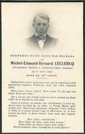 Faire Part De Décès De Michel Leclercq Le 11 Aout 1942 à Tours En Vimeu (Somme) - Overlijden