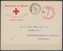 "L. ""Rood-Kruis Van België / AFDEELING NEERPELT"" Càd NEERPELT /31 I 1941 Pour Commandant Du STALAG XI.B. FALLINGBOSTEL (W - Covers"